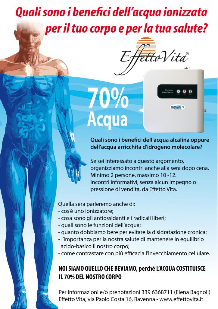Incontro informativo su acqua alcalina da Effetto Vita