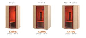 Promozione Saune Infrarossi Physiotherm effettovita