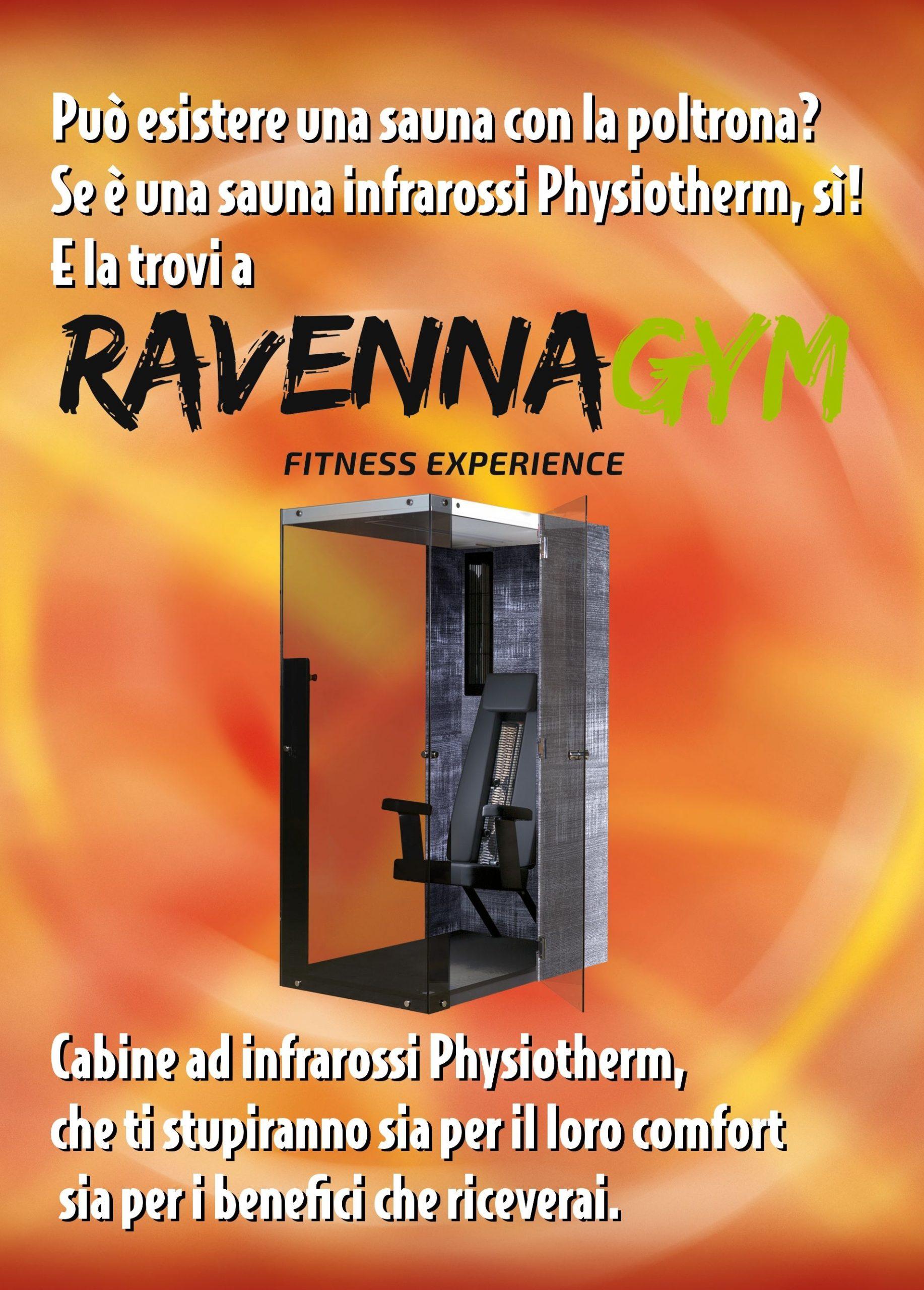 Volantino Saune Infrarossi Physiotherm con Ravenna Gym ed Effetto Vita